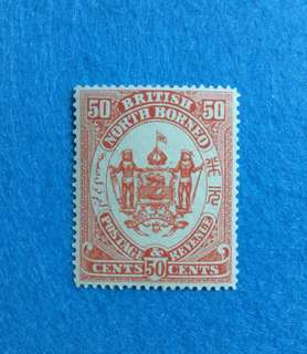 1888 North Borneo Colour Trial 50c Redrawn Issue in Scarlet