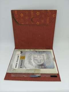 (genuine/ sealed) 1996 Swiss Telecom payphone card (un-used)