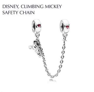 Authentic Pandora Disney, Climbing Mickey Safety Chain