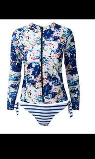 Long sleeve bikini surfing swimsuit