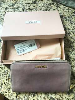 Miu Miu Zip Around Wallet