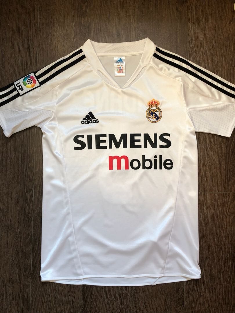 100% authentic 7e63f 90a30 Authentic Zinedine Zidane Real Madrid jersey, Sports, Sports ...