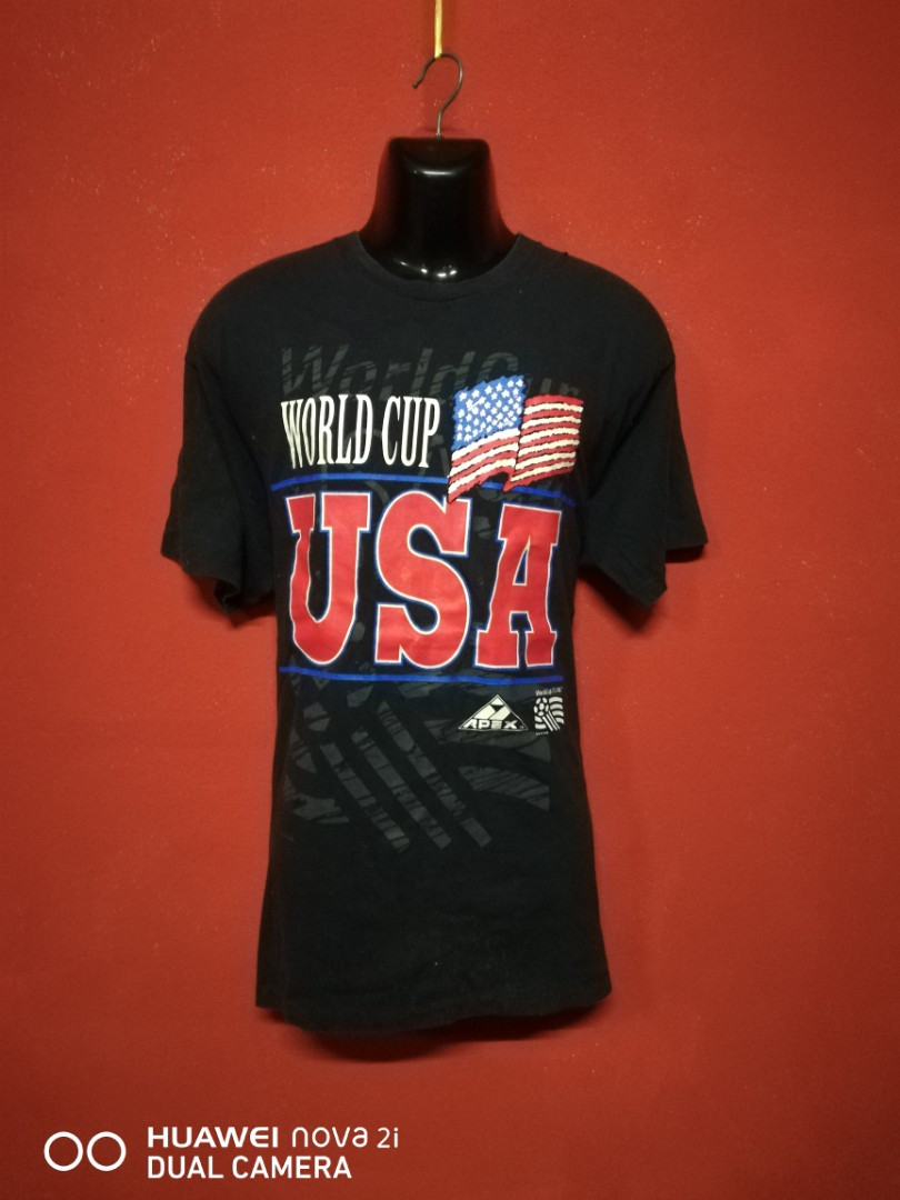 aa5ba95c4ee baju vintage WORLD CUP usa 1991 big size t shirt, Men's Fashion ...