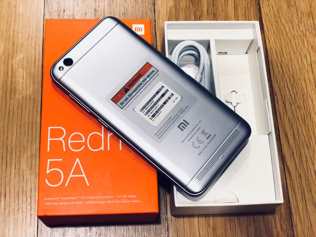 Bnib Redmi 5a Grey Mobiles Tablets Android Phones Xiaomi On Note 5 Ai Ram 3gb Internal 32gb Box Orange Global Version Carousell