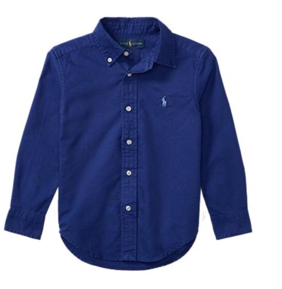 71e9495f3 BNIP Polo Ralph Lauren navy blue Cotton oxford sport shirt with tag ...