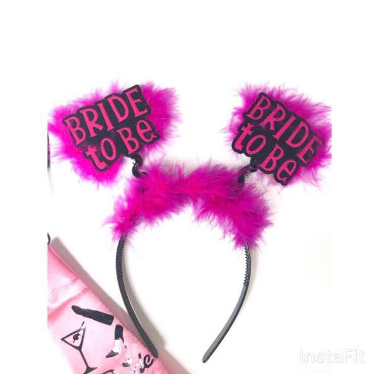 Bride To Be Headband - wedding   brides   hens night   bachelorette ... b8f79ea82a0