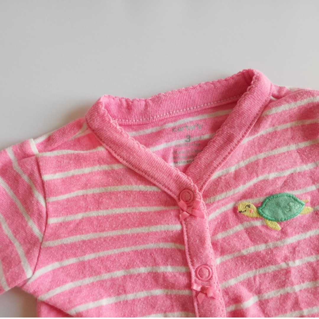 fc589e5387a Carter s Baby Girl Pink Stripes Romper