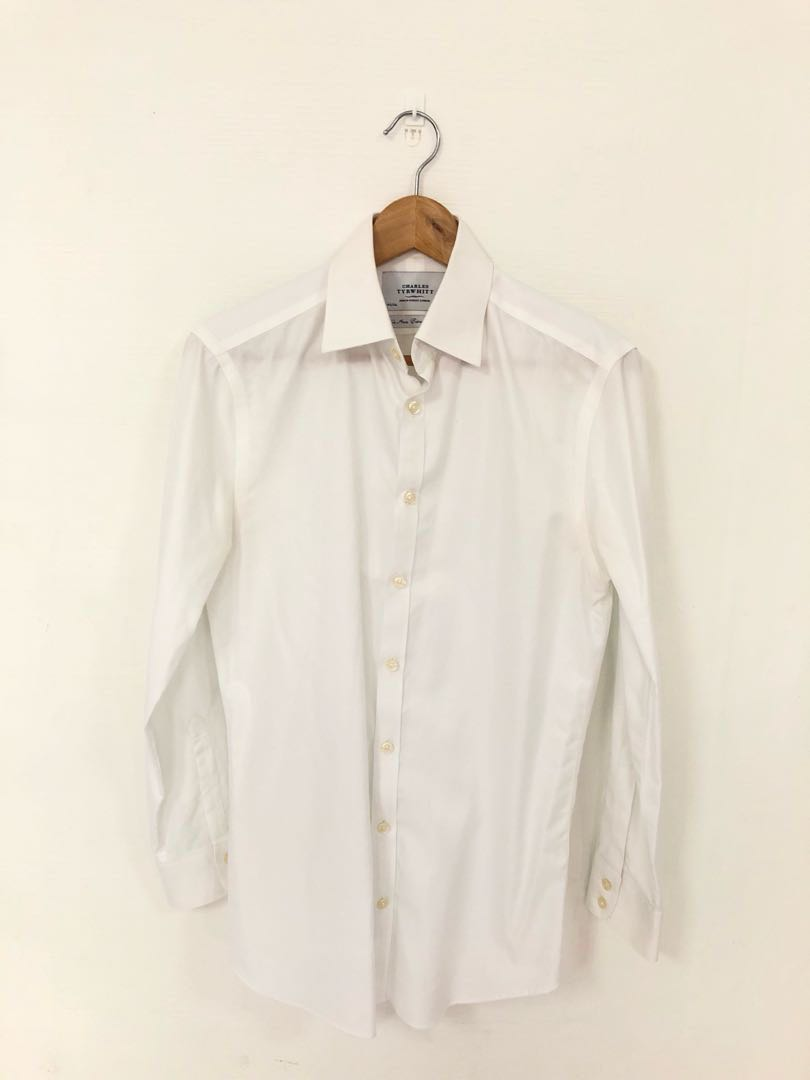 2d12383c3538 Charles Tyrwhitt Non Iron Extra Slim Fit Formal White Shirt, Men's ...