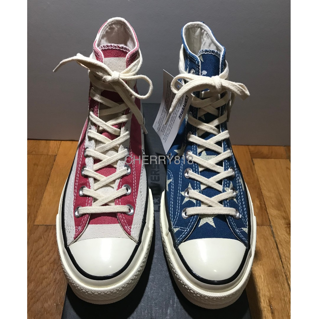 hot sale online dac0a 799bd CONVERSE 1970 CHUCK TAYLOR ALL STAR HI IS KNOWN AS THE VINTAGE FLAG EDITION  USA CT70 CT70S 1970S US8.5 , madness timeline time line addict wtaps  champion ...