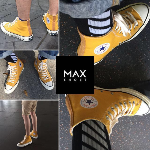 96ef2f744a5eae Converse 1970s Yellow 70s chuck taylor all star canvas sneakers 1970 70  high cut shoes new