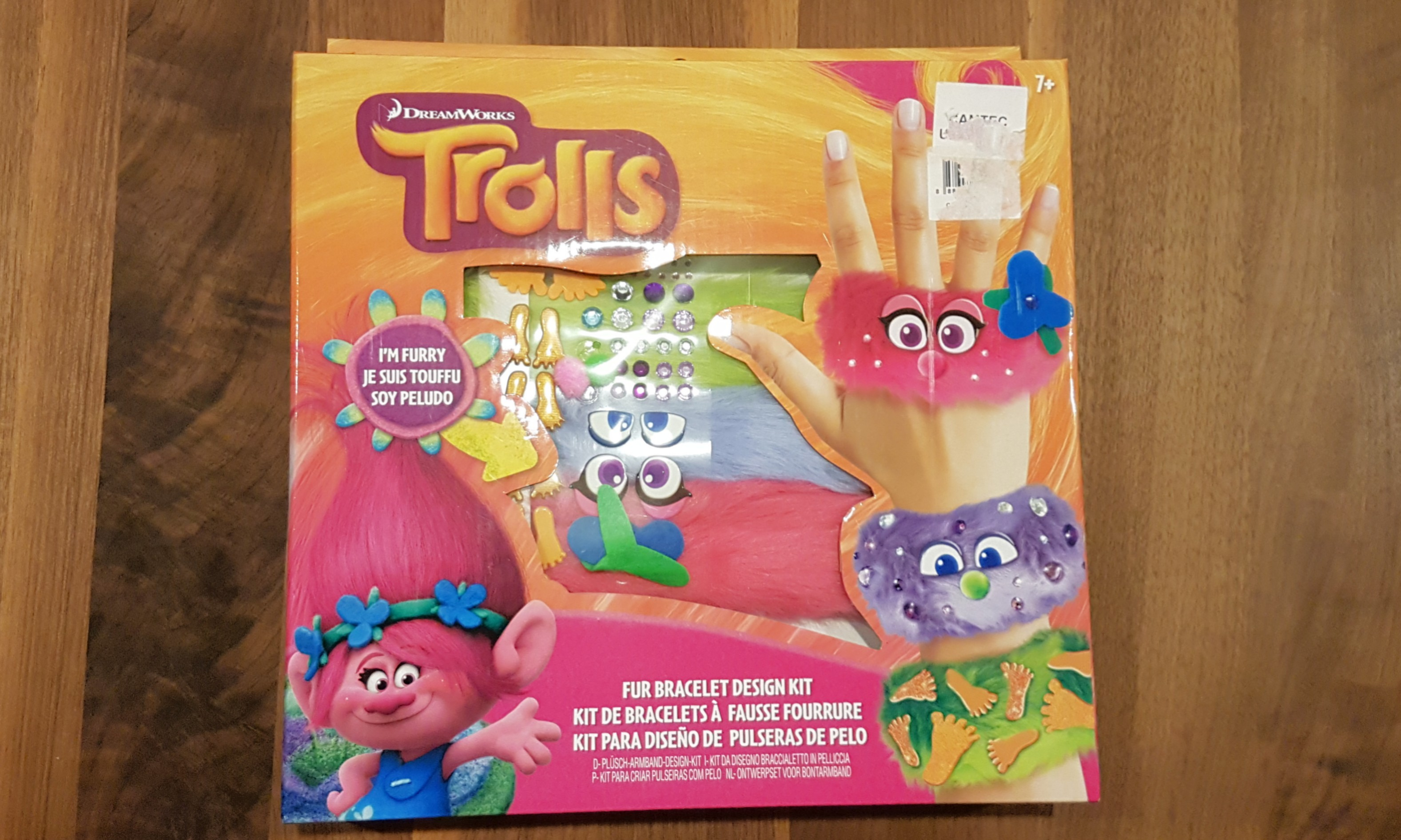 Dreamworks trolls fur bracelet design kit babies kids toys