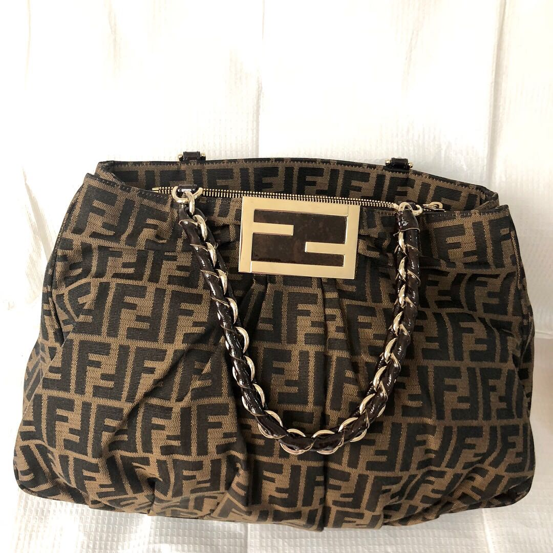 a46684d80a4b coupon for fendi zucca tote bag preloved womens fashion bags wallets on  658ad 8e9c6
