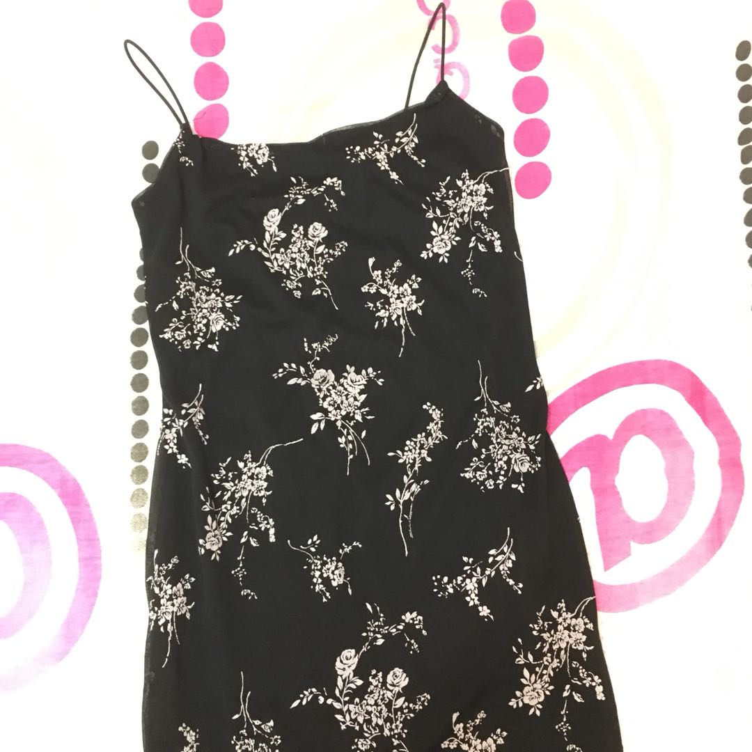 Floral Fitted Slip Dress