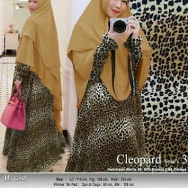 Gamis Leopard Syari Premium Gamis Motif Terbaru Women S Fashion