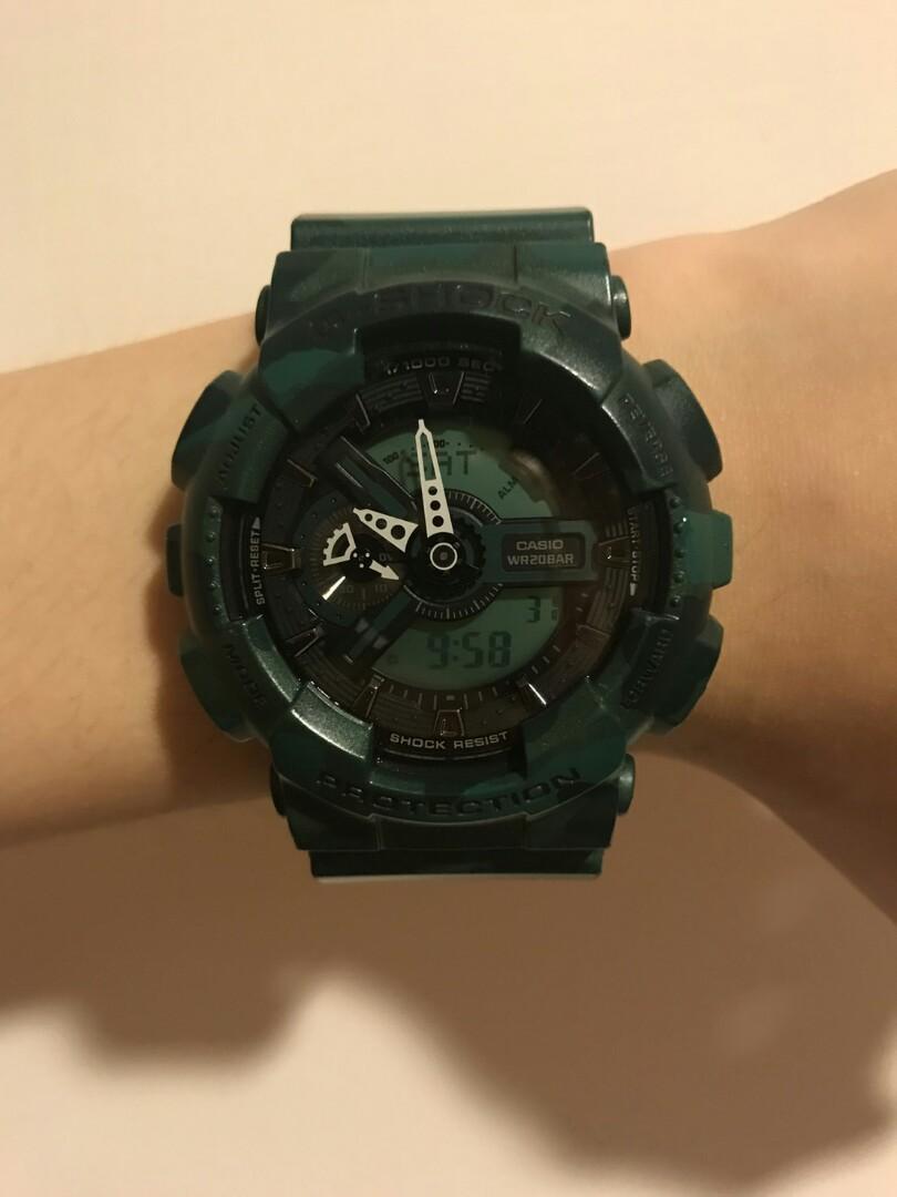 G-SHOCK 迷彩綠手錶 男錶