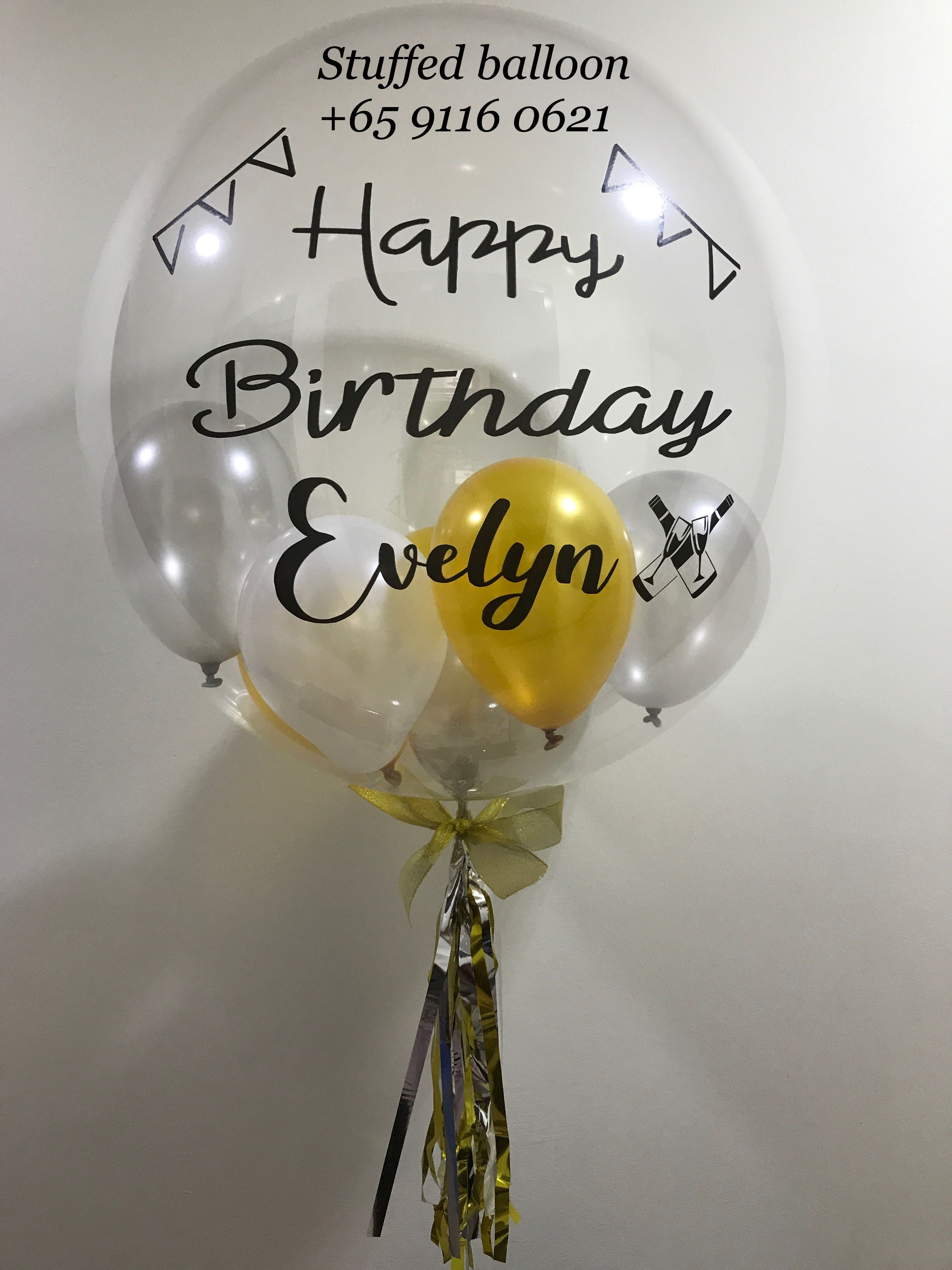 Happy Birthday Balloon Customized Bubble Party Personalized Design Craft Supplies Tools On Carousell