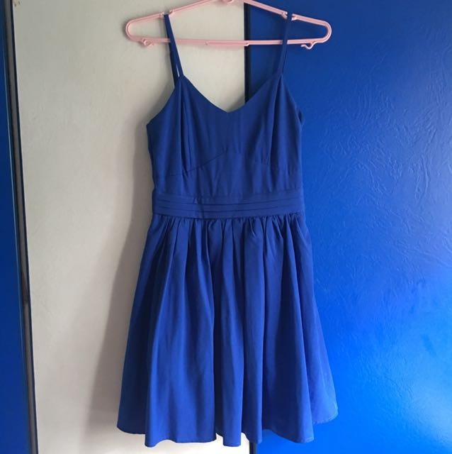 Royal Blue Baby Doll Dress