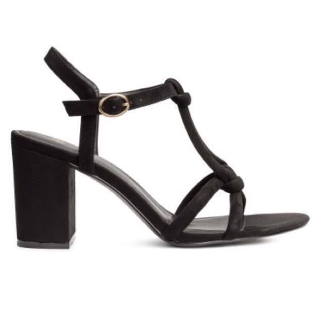 H\u0026M Block Heels Strappy Sandals Almost