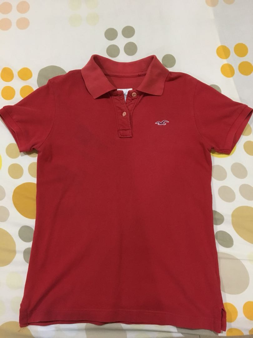 14fb28e3c Hollister Polo Tee, Women's Fashion, Clothes, Tops on Carousell