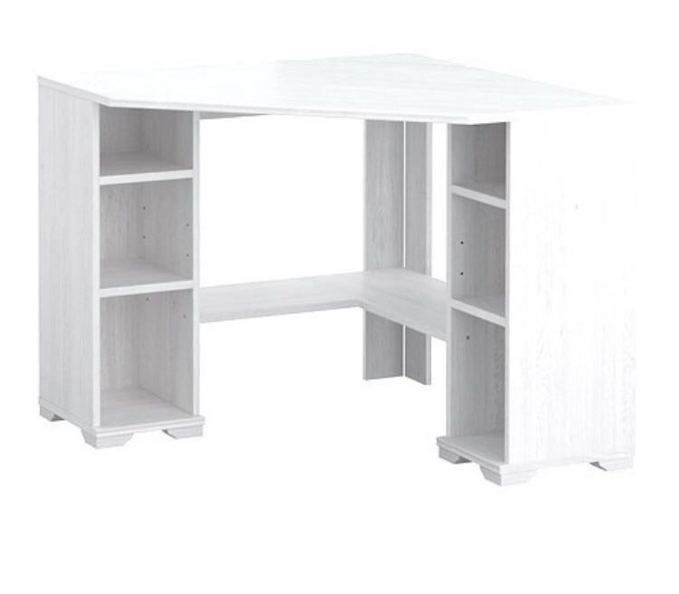 Ikea Corner Desk White Wood Borgsjo Furniture Tables Chairs On Carou