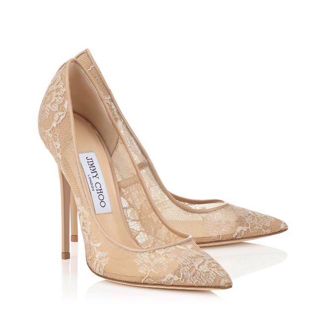 5b3681fdc JIMMY CHOO ANOUK Lace heels, Women's Fashion, Shoes, Heels on Carousell