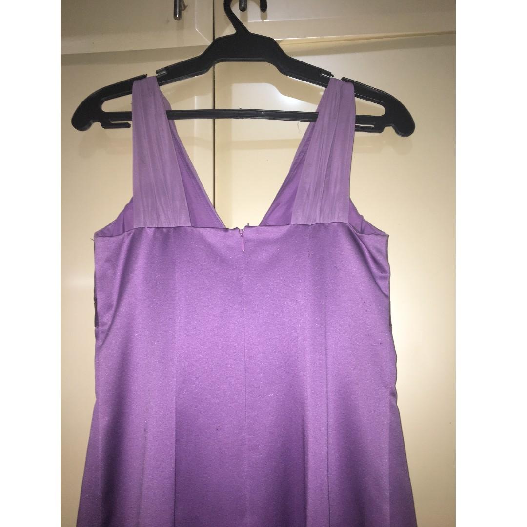 Lavender Floor-Length Bridesmaid Dress or Evening Gown, Preloved ...