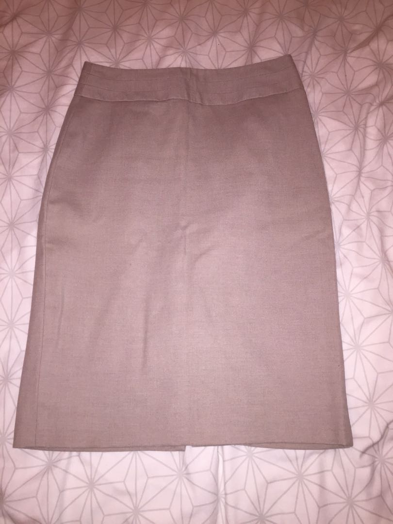 Light tan office skirt