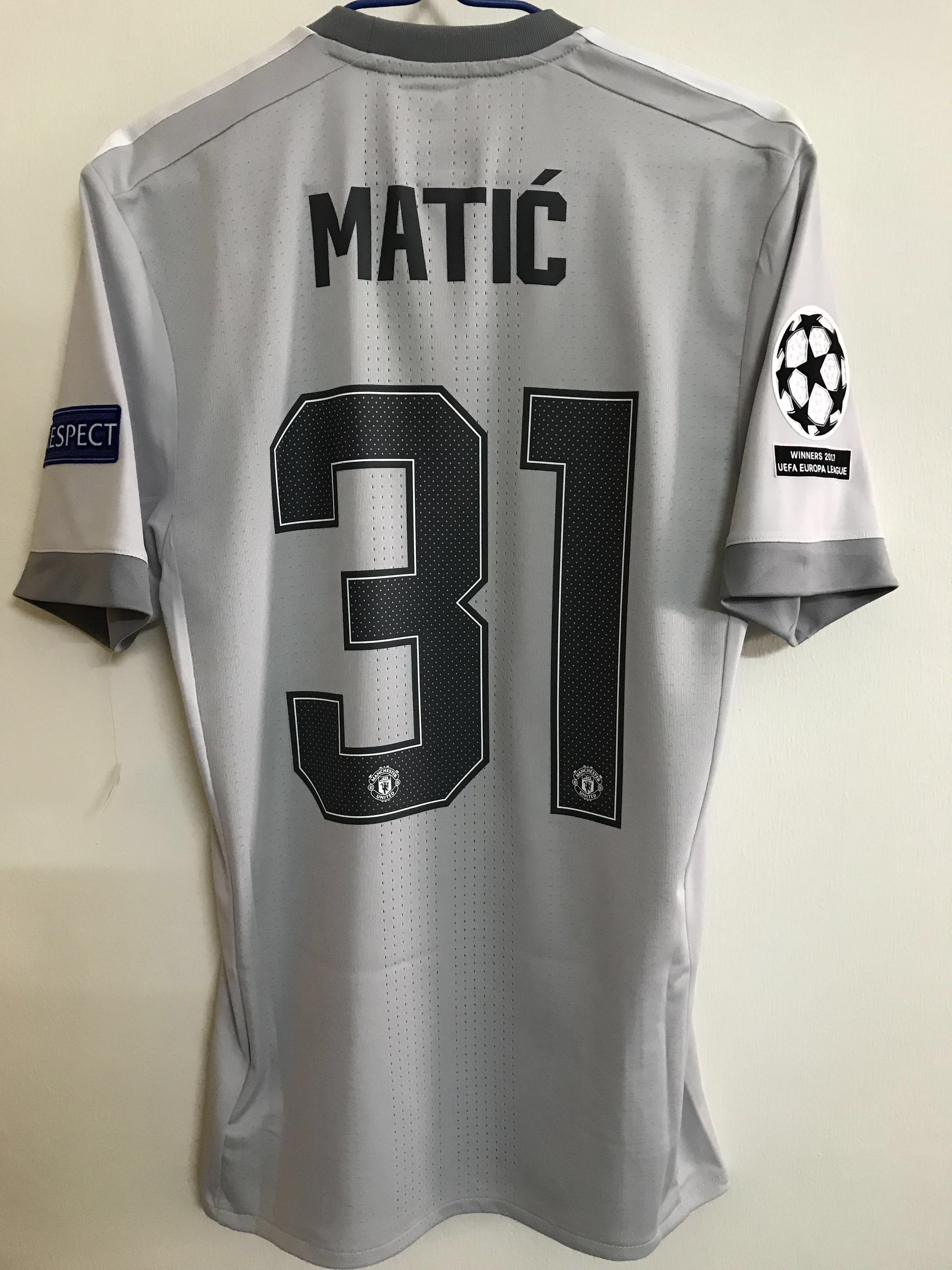 958c6aff2 Official Authentic Adidas Adizero Manchester United 2017-2018 3rd Third  Jersey MATIĆ  31 Player Issue Shirt UCL UEFA Champions League EPL