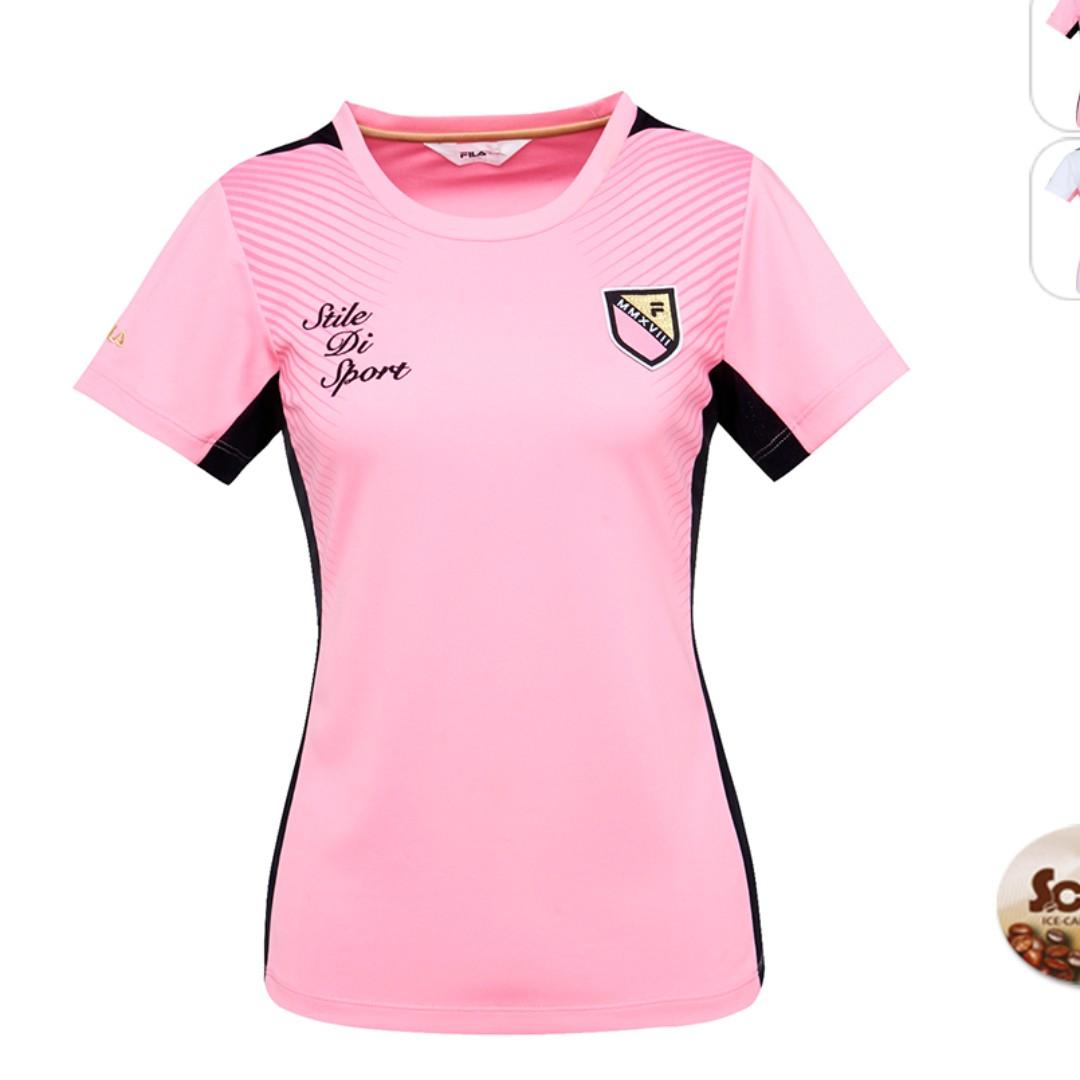 c2a88d5137ee Pre-order  Pink Women s Fila dri-fit sports jersey (eco-friendly ...