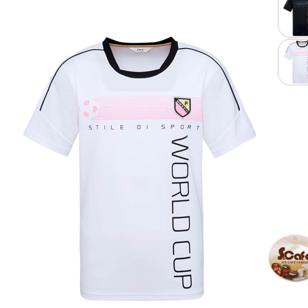 4c6f48232baf Pre-order  White Fila dri-fit sports jersey (eco-friendly coffee ...
