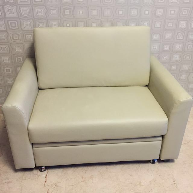 Pvc Two Seater Sofa With Storage Box Furniture On Carousell
