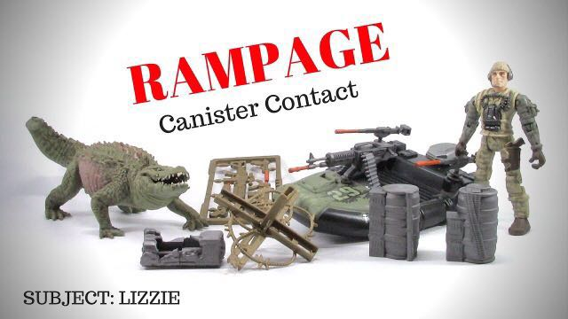 Rampage The Movie George Ralph Lizzie Canister Contact Action