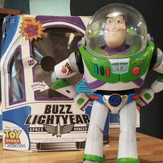 Rare Buzz Lightyear With Utility Belt Thinkway Toy Toys