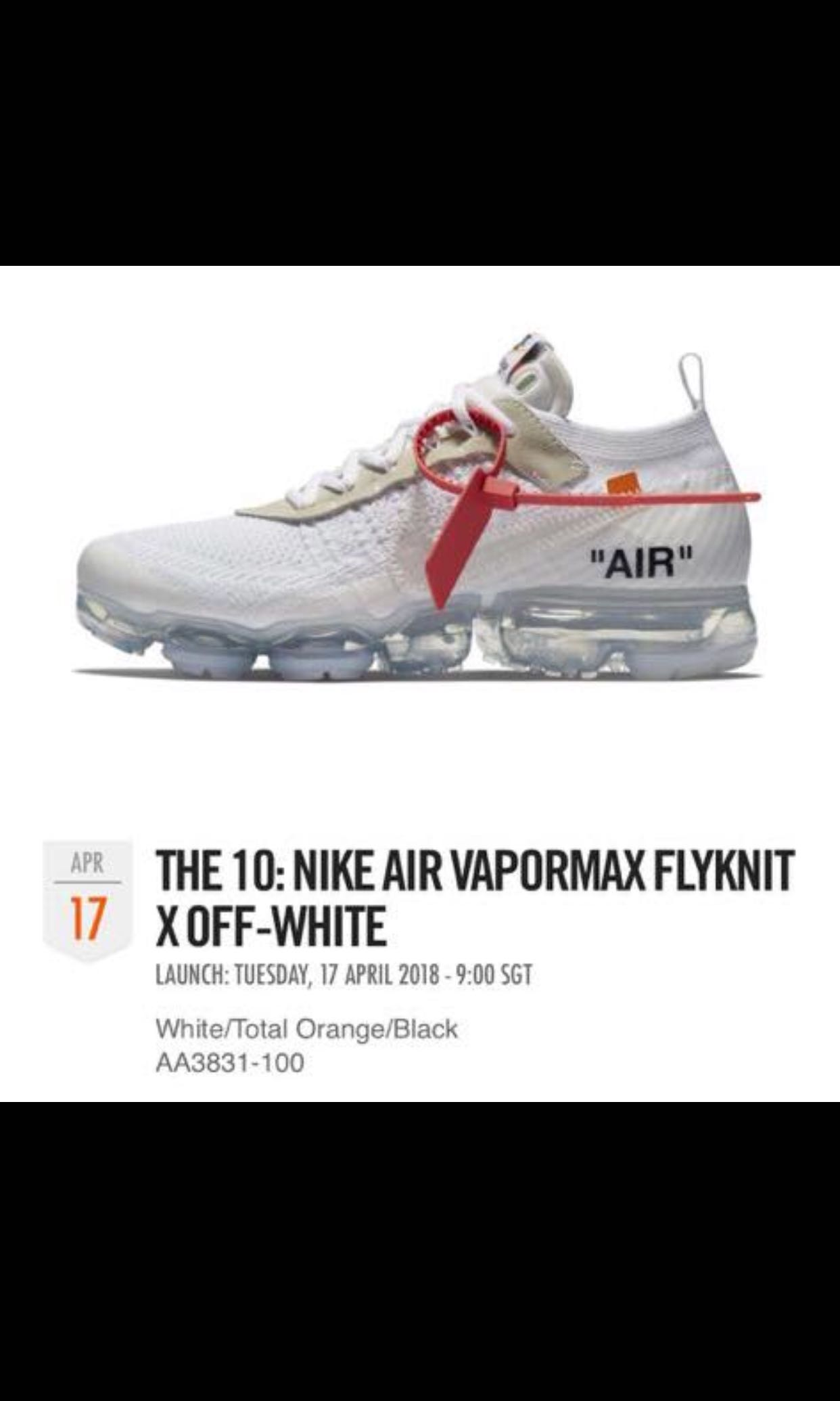 68273a76f310 THE 10  NIKE AIR VAPORMAX FLYKNIT X OFF-WHITE