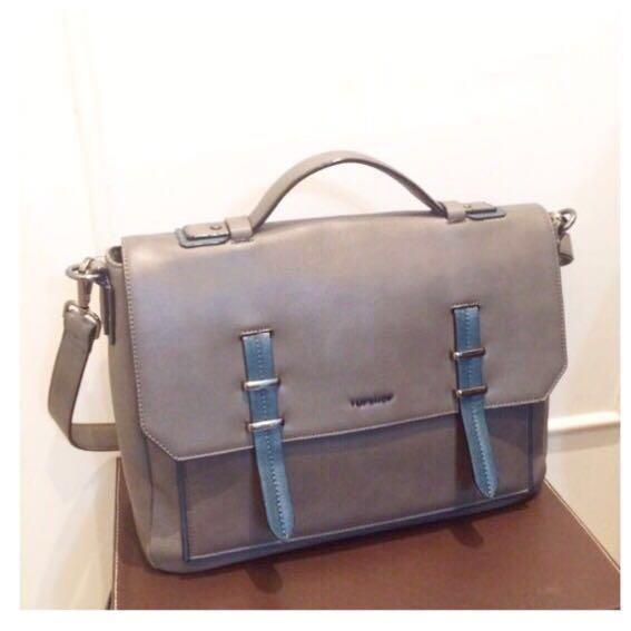 Topshop satchel bag (gray-ish)