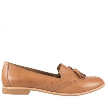 Wittner Brown Leather Loafers