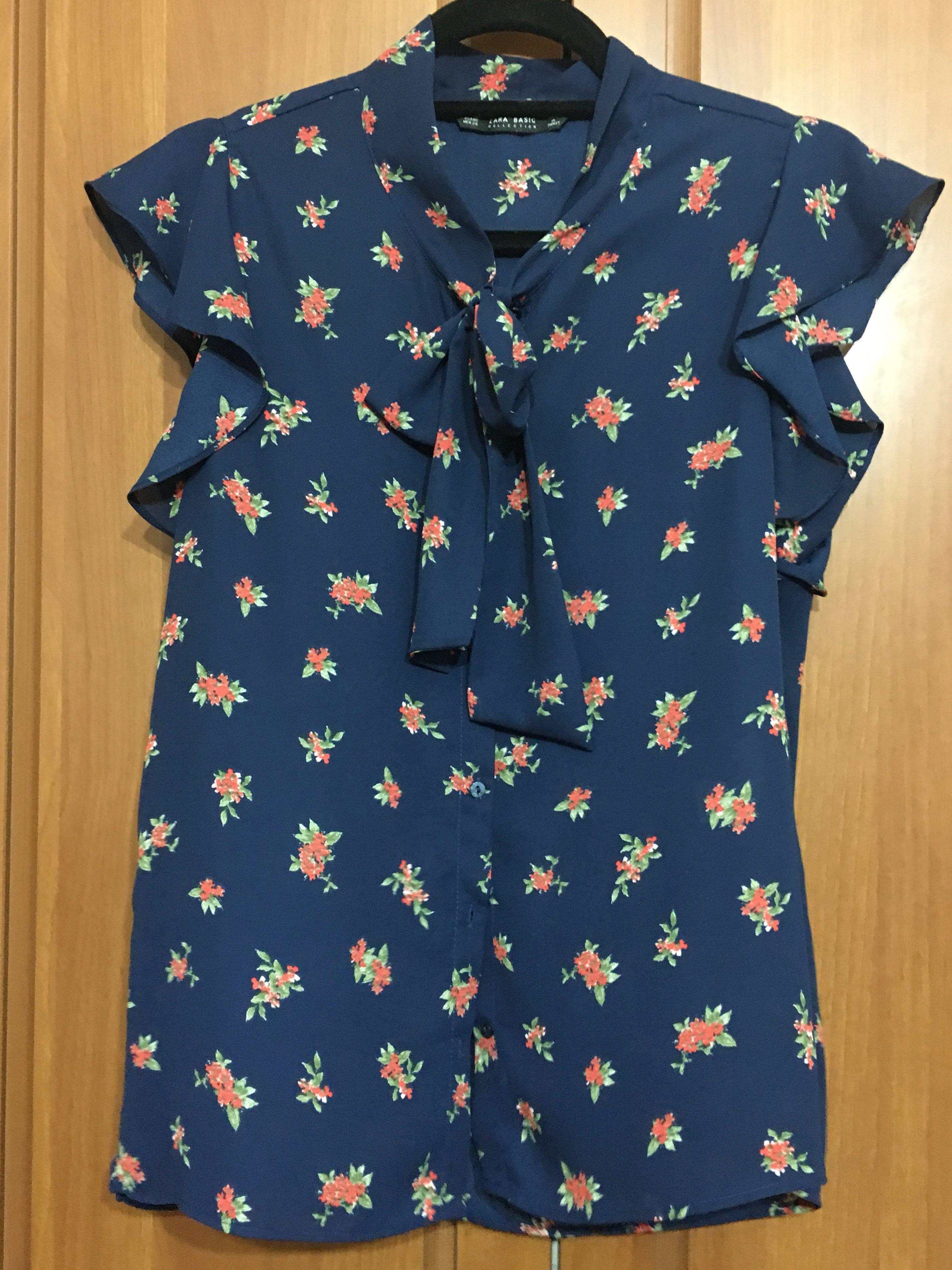 e66dba8a0 Zara floral top, Women's Fashion, Clothes, Tops on Carousell