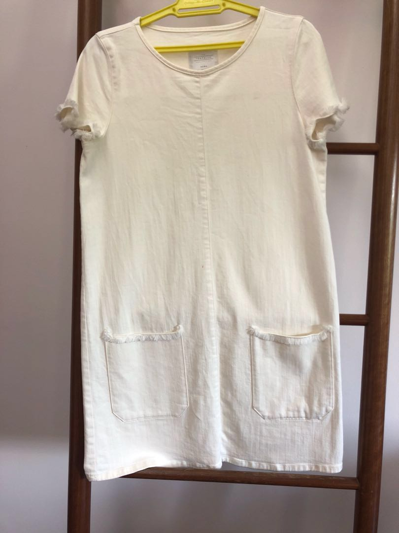 first rate best value provide large selection of Zara White Denim Dress