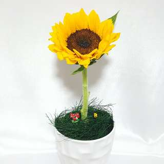 Sunflower Ladybug Flower Arrangement