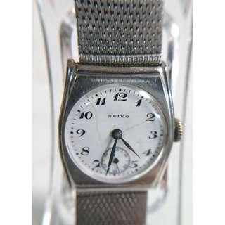 極罕有古董精工(Seiko)陶瓷面小三針上鍊手錶