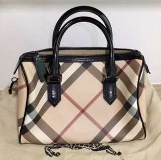 Burberry Nova Check Bowling Handbag