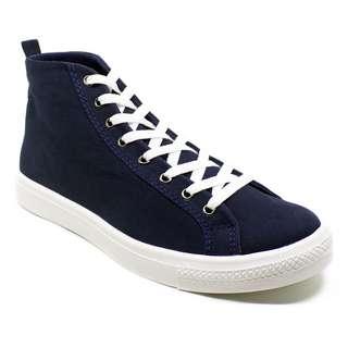 Sneaker high cut pria ZIDEN Navy - BLAX Footwear