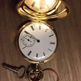 Vintage Pocket watch with key winding