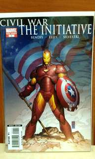 Civil  War The Initiative Marvel One Shot Comic.