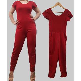 Repriced! Petit Monde Red Jumpsuit