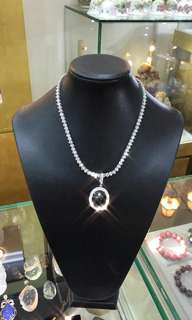 Certificate Natural diamond necklace 93 pieces of 0.3cts
