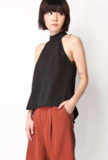 Big City High Neck Top in Black Size S