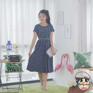 🍿 Vintage Midi Dress VD1088