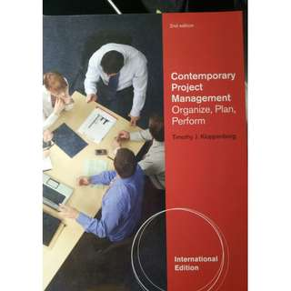 Contemporary Project Management by Timothy J. Kloppenborg