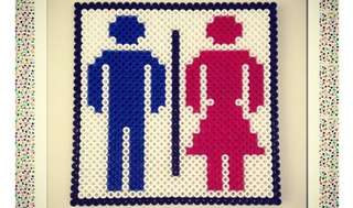 Toilet Sign Hama Bead Designs